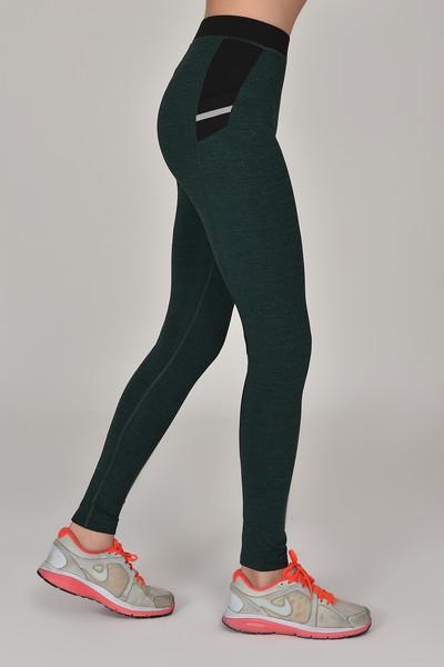 BİLCEE - Bilcee Yeşil Toparlayıcı Kadın Sporcu Tayt AW-6570 (1)