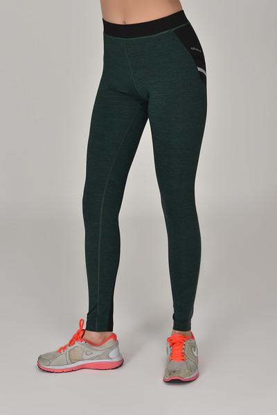 BİLCEE - Bilcee Yeşil Toparlayıcı Kadın Sporcu Tayt AW-6570