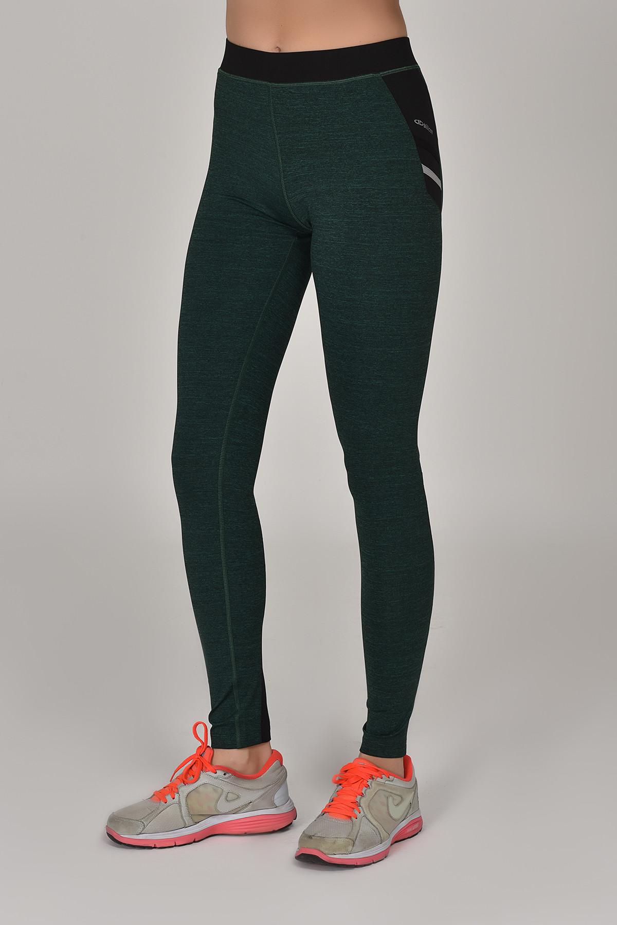 Bilcee Yeşil Toparlayıcı Kadın Sporcu Tayt AW-6570 BİLCEE