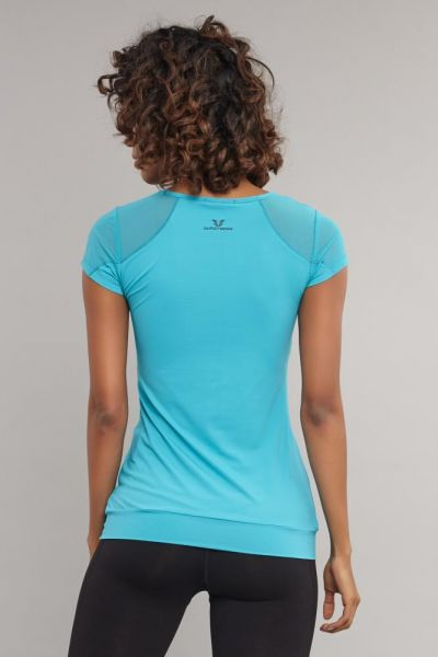 BİLCEE - Bilcee Mavi Kadın T-Shirt AS-5071 (1)