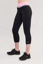 Bilcee Siyah 3/4 Kısa Sporcu Kadın Taytı BS-7118 - Thumbnail