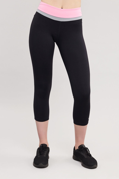 BİLCEE - Bilcee Siyah 3/4 Kısa Sporcu Kadın Taytı BS-7118
