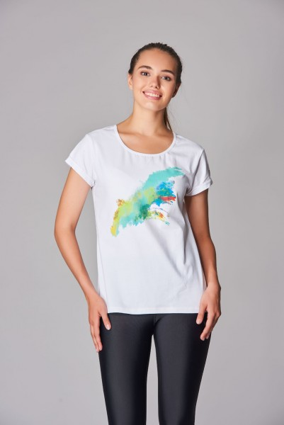 BİLCEE - Bilcee Likralı Pamuklu Kadın T-Shirt DS--2869