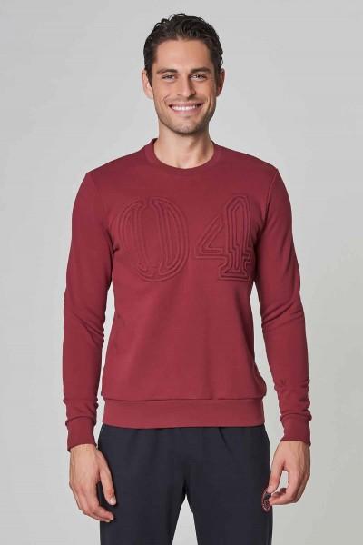 BİLCEE - Bilcee Bordo Kışlık Erkek Sweatshirt DW-1250