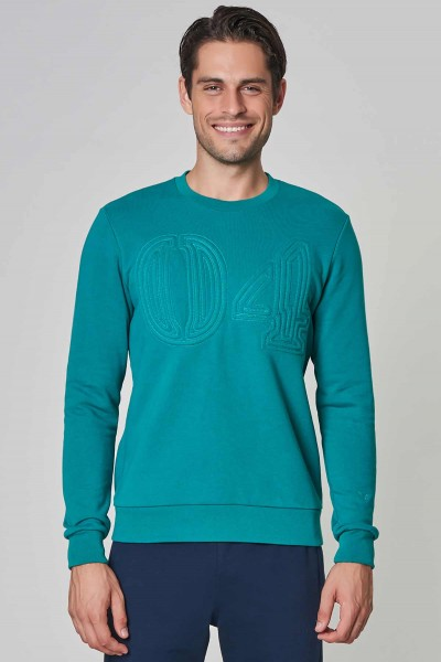 BİLCEE - Bilcee Mavi Kışlık Erkek Sweatshirt DW-1250