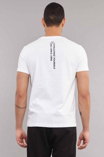 BİLCEE - Bilcee Beyaz Pamuklu Erkek T-Shirt DW-2220 (1)