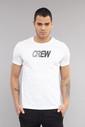 Bilcee Beyaz Pamuklu Erkek T-Shirt DW-2220 - Thumbnail