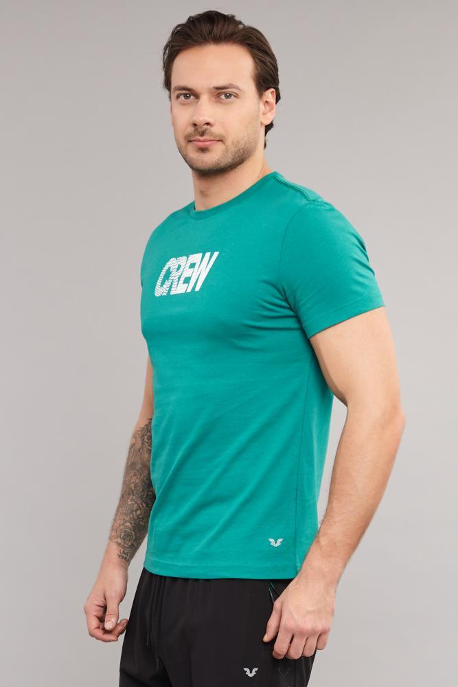 Bilcee Mavi Pamuklu Erkek T-Shirt DW-2220 BİLCEE