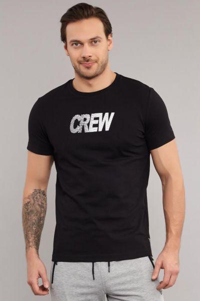 BİLCEE - Bilcee Siyah Pamuklu Erkek T-Shirt DW-2220