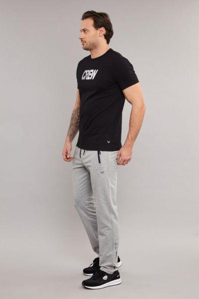 BİLCEE - Bilcee Siyah Pamuklu Erkek T-Shirt DW-2220 (1)