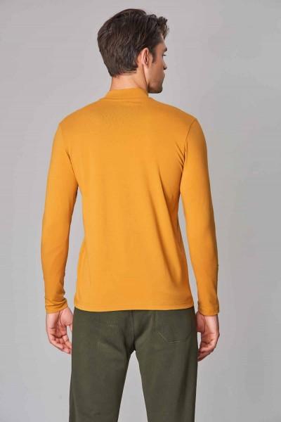 BİLCEE - Bilcee Sarı Likralı Pamuklu Erkek Body DW-2275 (1)