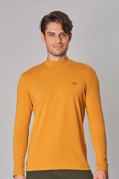 BİLCEE - Bilcee Sarı Likralı Pamuklu Erkek Body DW-2275