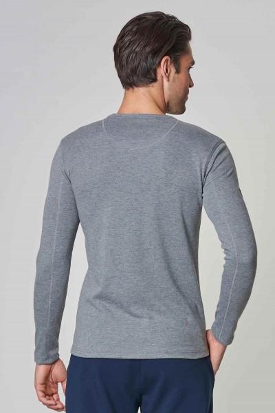 BİLCEE - Bilcee Gri Pamuk/Poly Erkek Sweatshirt DW-2324 (1)