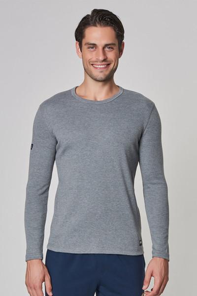 BİLCEE - Bilcee Gri Pamuk/Poly Erkek Sweatshirt DW-2324