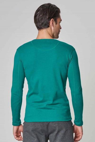 BİLCEE - Bilcee Mavi Pamuk/Poly Erkek Sweatshirt DW-2324 (1)