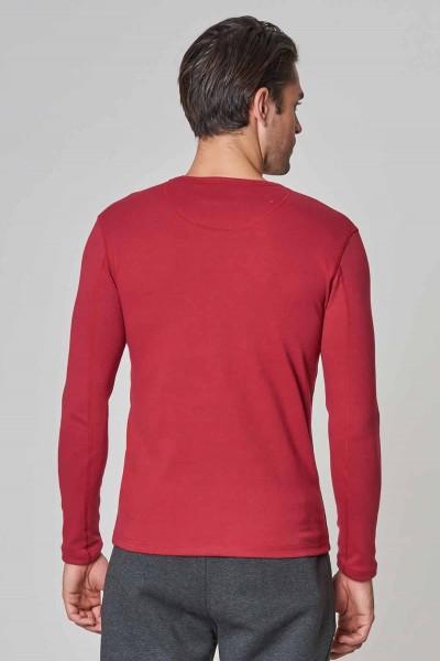 BİLCEE - Bilcee Bordo Pamuk/Poly Erkek Sweatshirt DW-2324 (1)