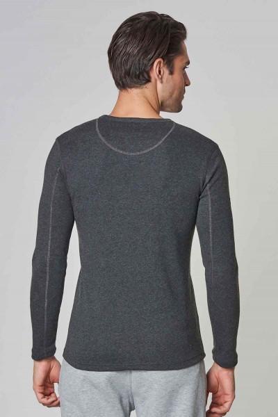 BİLCEE - Bilcee Antrasit Pamuk/Poly Erkek Sweatshirt DW-2324 (1)