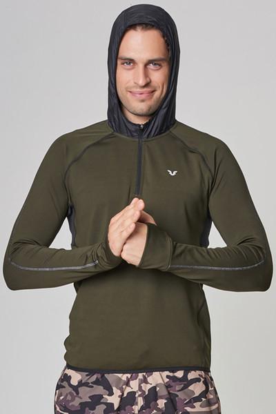 BİLCEE - Bilcee Yeşil Pamuklu Erkek Sweatshirt DW-2429