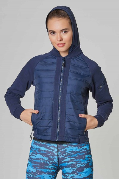 BİLCEE - Bilcee Lacivert Kışlık Kadın Eşofman Üstü DW-2706 (1)