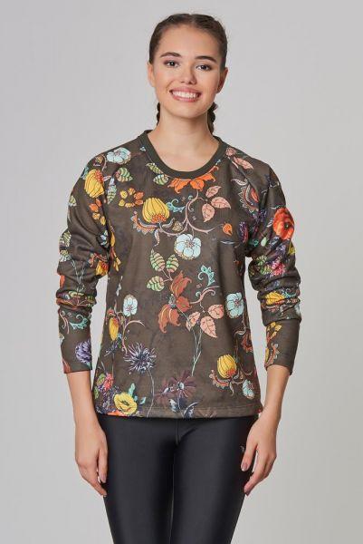 BİLCEE - Bilcee Kahverengi 2 İplik Kadın Sweatshirt DW-2712