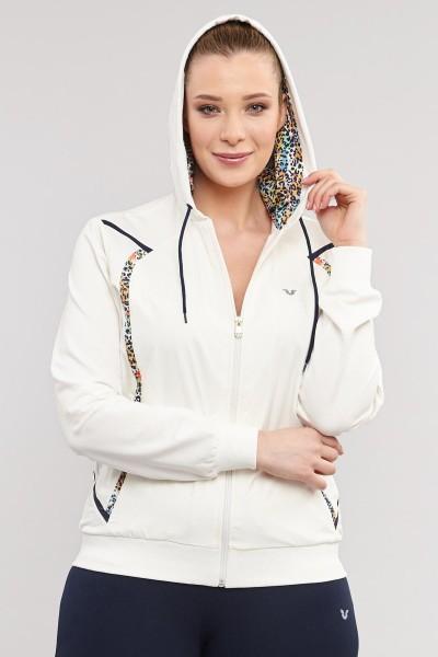 BİLCEE - Büyük Beden Beyaz Pamuk/Poly Kadın Eşofman Takımı DW-2746 (1)