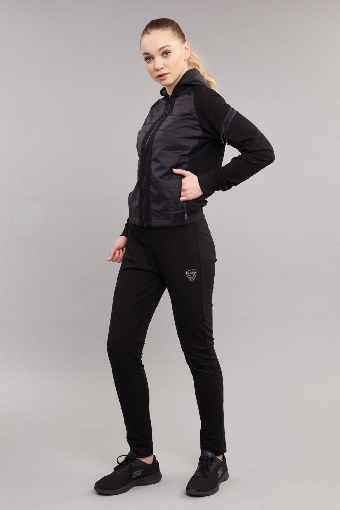 BİLCEE - Bilcee Siyah Pamuk/Poly Kadın Eşofman Takımı DW-2749