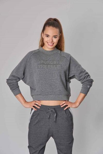 BİLCEE - Bilcee Gri Kışlık Kadın Sweatshirt DW-2814