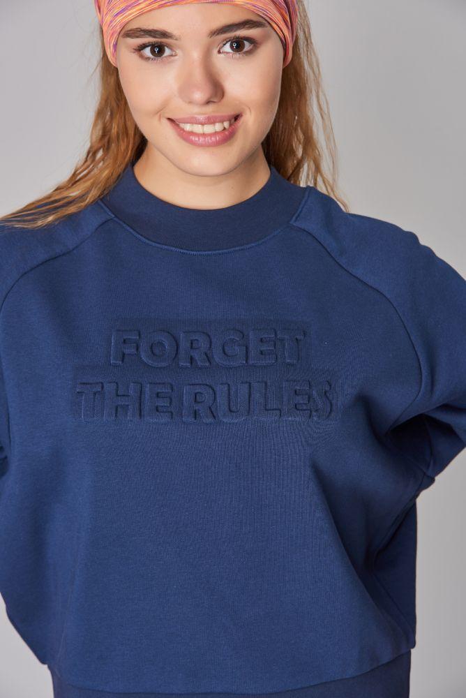 BİLCEE - Bilcee Lacivert Kışlık Kadın Sweatshirt DW-2814