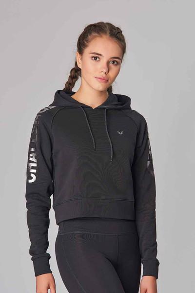 BİLCEE - Bilcee Siyah Kışlık Kadın Sweatshirt DW-2839
