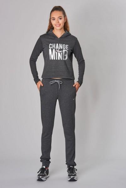 BİLCEE - Bilcee Antrasit Kışlık Kadın Sweatshirt DW-2860 (1)