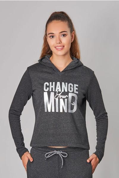 BİLCEE - Bilcee Antrasit Kışlık Kadın Sweatshirt DW-2860