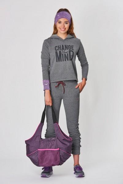BİLCEE - Bilcee Gri Kışlık Kadın Sweatshirt DW-2860 (1)