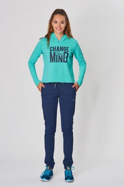 BİLCEE - Bilcee Mavi Kışlık Kadın Sweatshirt DW-2860 (1)