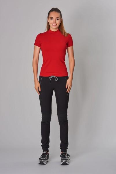 BİLCEE - Bilcee Kırmızı Likralı Pamuklu Kadın T-Shirt DW-2866 (1)