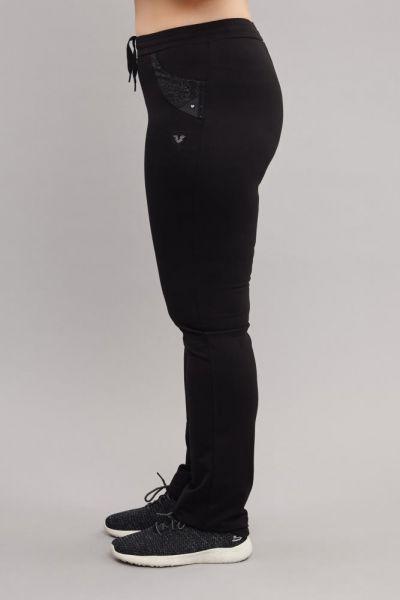 BİLCEE - Bilcee Siyah Büyük Beden Pamuk/Poly Kadın Eşofman Altı DW-6588 (1)