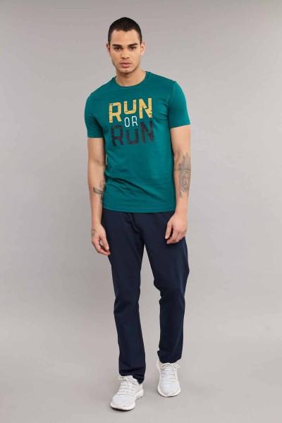 BİLCEE - Bilcee Mavi Pamuklu Erkek T-Shirt ES-1362 (1)
