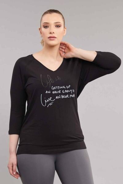 BİLCEE - Bilcee Büyük Beden Kadın T-Shirt ES-1880