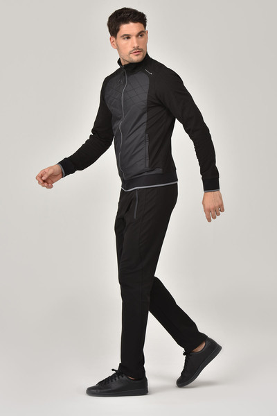 BİLCEE - Bilcee Siyah Erkek Eşofman Takımı ES-2350 (1)