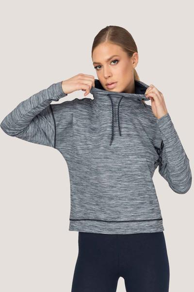 BİLCEE - Bilcee Gri Kadın Sweatshirt ES-3503