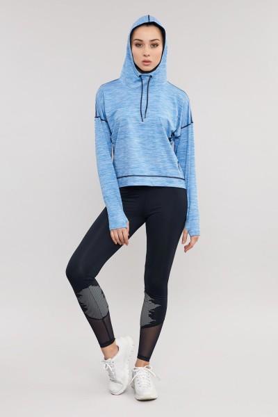 BİLCEE - Bilcee Mavi Kadın Sweatshirt ES-3503 (1)