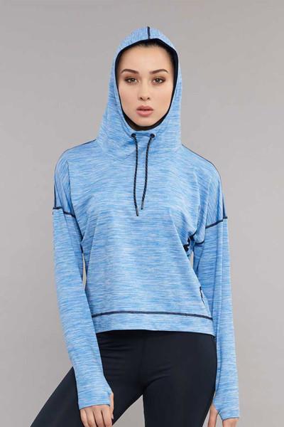 BİLCEE - Bilcee Mavi Kadın Sweatshirt ES-3503