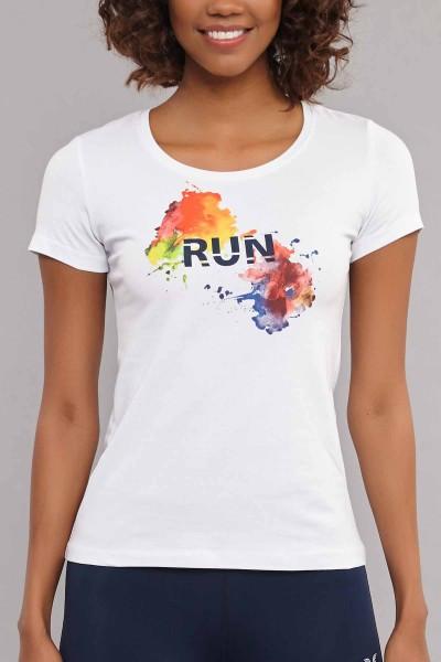 BİLCEE - Bilcee Beyaz Likralı Pamuklu Kadın T-Shirt ES-3526