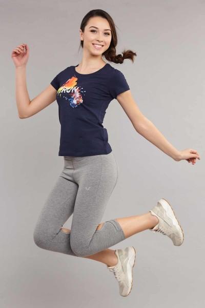 BİLCEE - Bilcee Kadın Likralı Pamuklu T-Shirt ES-3526