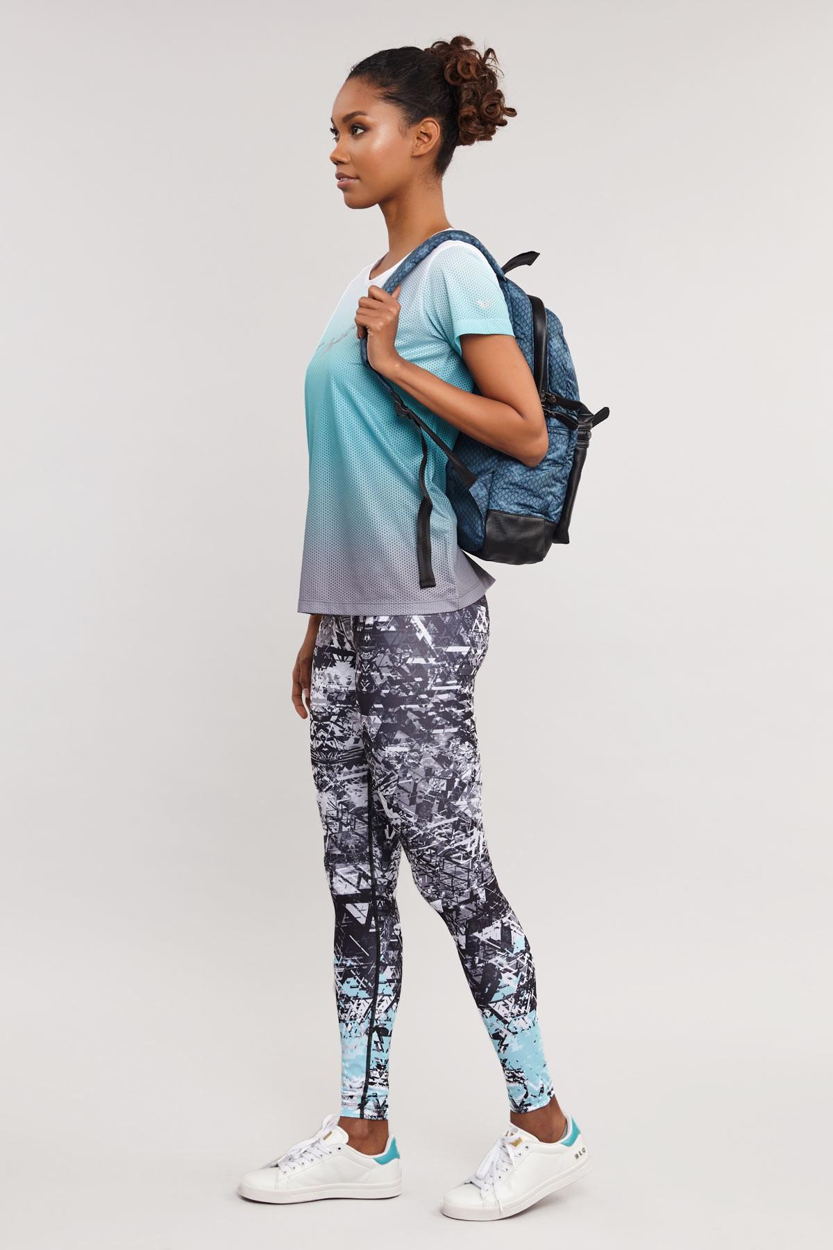 Bilcee Mavi Kadın Antrenman T-Shirt ES-3549 BİLCEE