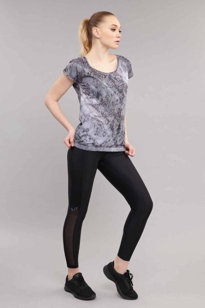 BİLCEE - Bilcee Likralı Pamuklu Kadın T-Shirt ES-3571 (1)