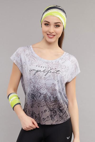 BİLCEE - Bilcee Siyah Pamuk/Poly Kadın T-Shirt ES-3572