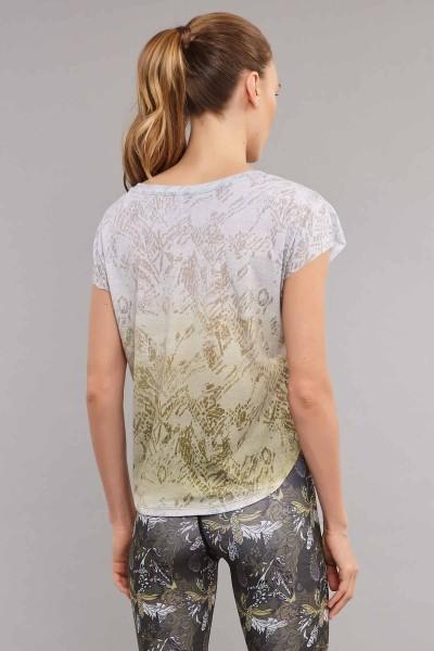 BİLCEE - Bilcee Beyaz Pamuk/Poly Kadın T-Shirt ES-3572 (1)