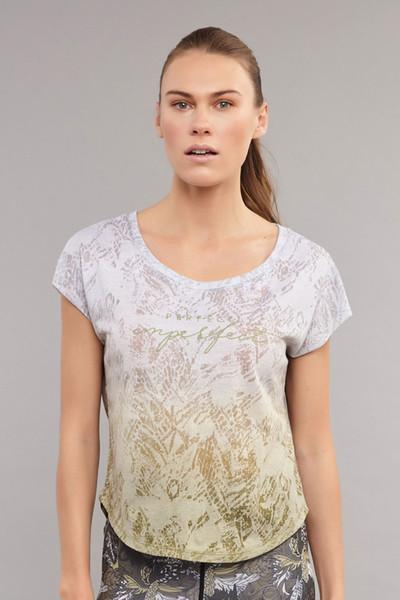 BİLCEE - Bilcee Beyaz Pamuk/Poly Kadın T-Shirt ES-3572