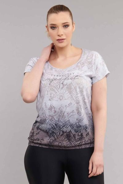 BİLCEE - Bilcee Büyük Beden Pamuk/Poly Kadın T-Shirt ES-3586