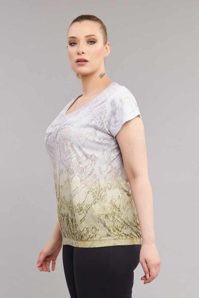 BİLCEE - Bilcee Büyük Beden Kadın T-Shirt ES-3586